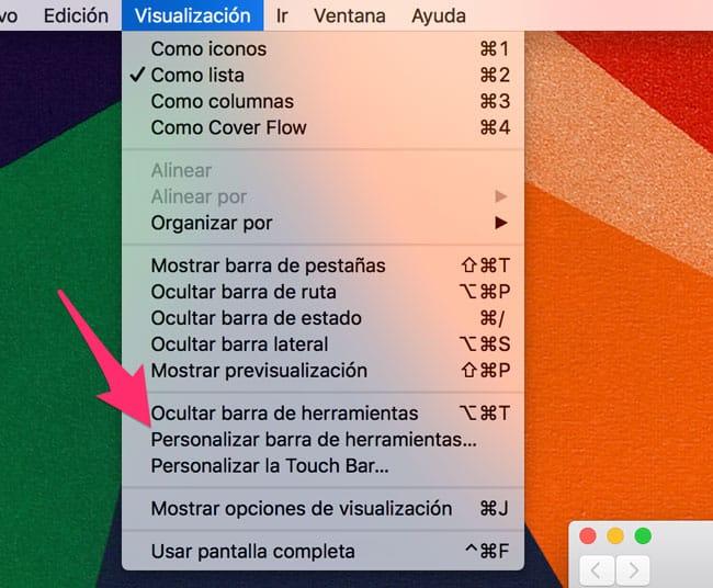 Personalizar barra de herramientas