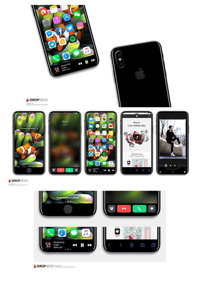 Concepto de iPhone 8 por iDropNews