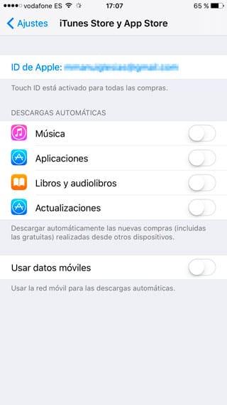 Desactivar actualizaciones automáticas