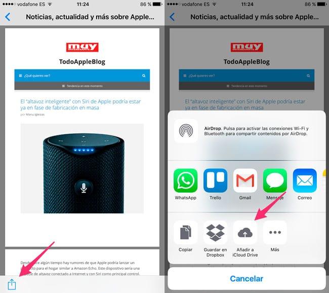 Guardar cualquier contenido en PDF desde iPhone y iPad