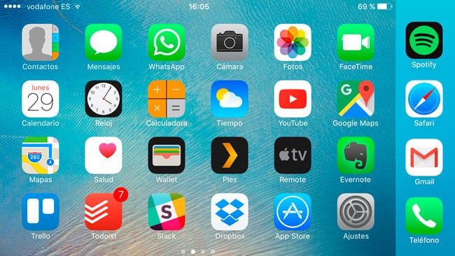 Desactivar la pantalla horizontal de inicio en iPhone