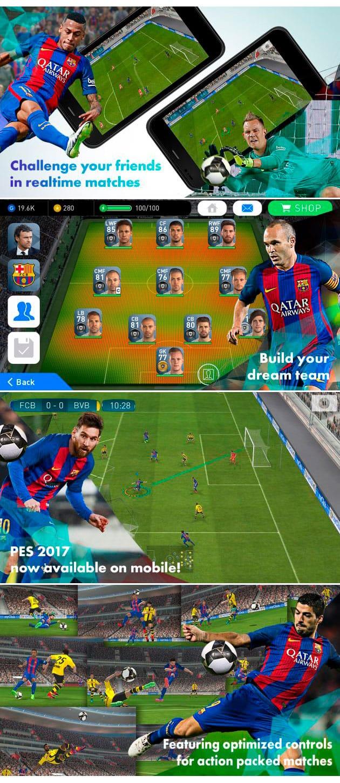 Presentación PES2017 Mobile para iPhone