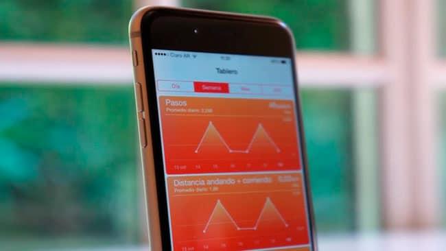app de Salud en iPhone