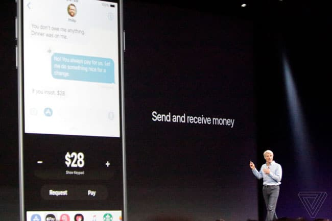 Apple Pay entre personas