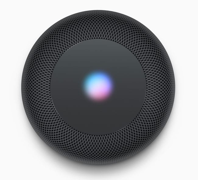 HomePod vista superior