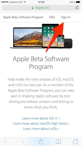 Instrucciones para instalar la Beta pública de iOS 11