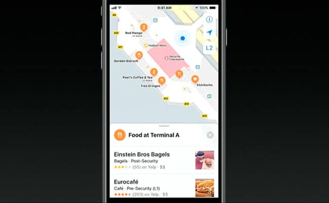 Nuevo Apple Maps para interiores