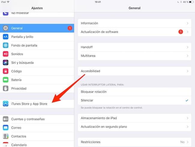 Ajustes - iTunes Store y App Store
