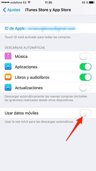 Desactiva actualizaciones automáticas en segundo plano