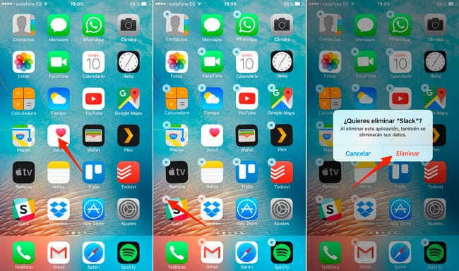 Desinstalar apps iOS