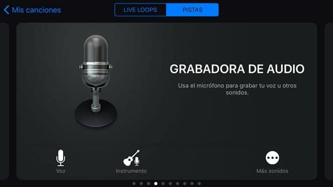 Grabadora de Audio de Garageband