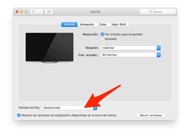 Activar AirPlay en Mac