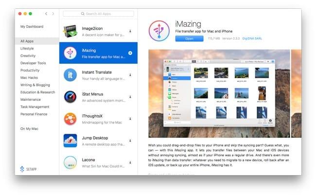 Descubrir apps en Setapp