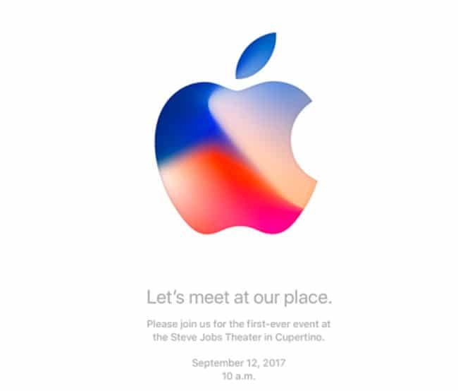 Apple anuncia el evento de presentación del iPhone 8