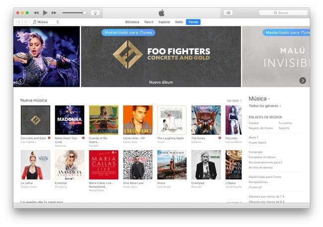 Actualizar desde iTunes