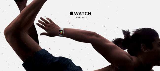 Apple Watch Series 3 natación