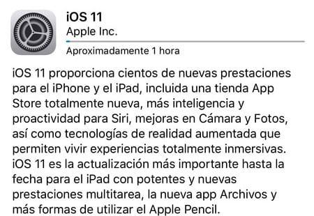 Actualización OTA iOS 11