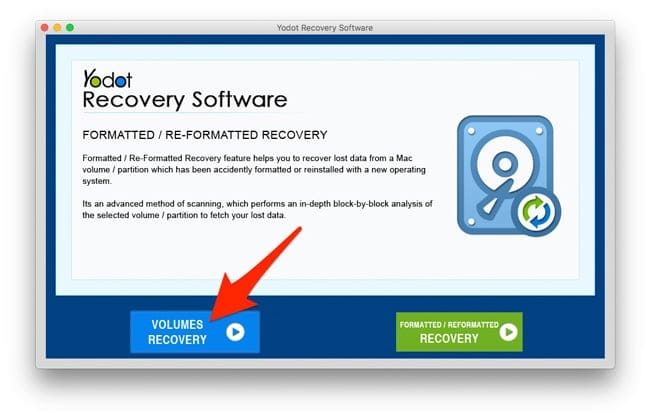 Volumes Recovery