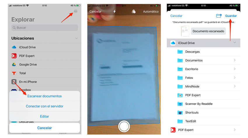 Escanear documentos en iPhone y iPad sin apps de terceros