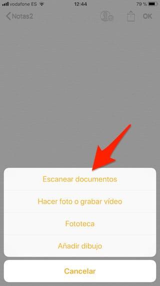 Escanear documentos