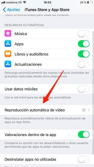 Reproducción automática de vídeo