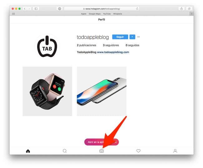Subir foto a Instagram desde Mac