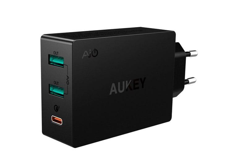 AUKEY, cargador de carga rápida para iPhone X y iPhone 8