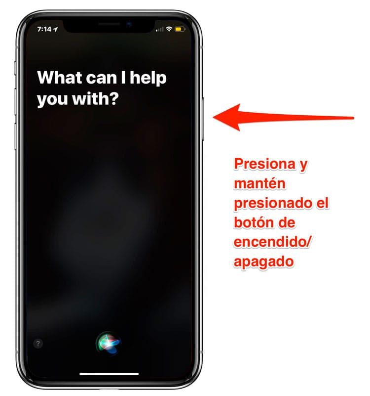 Activar Siri en el iPhone X