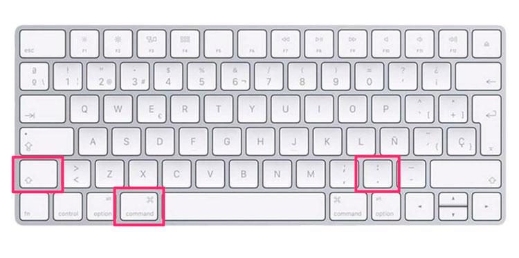 Atajo de teclado para mostrar archivos ocultos en Mac