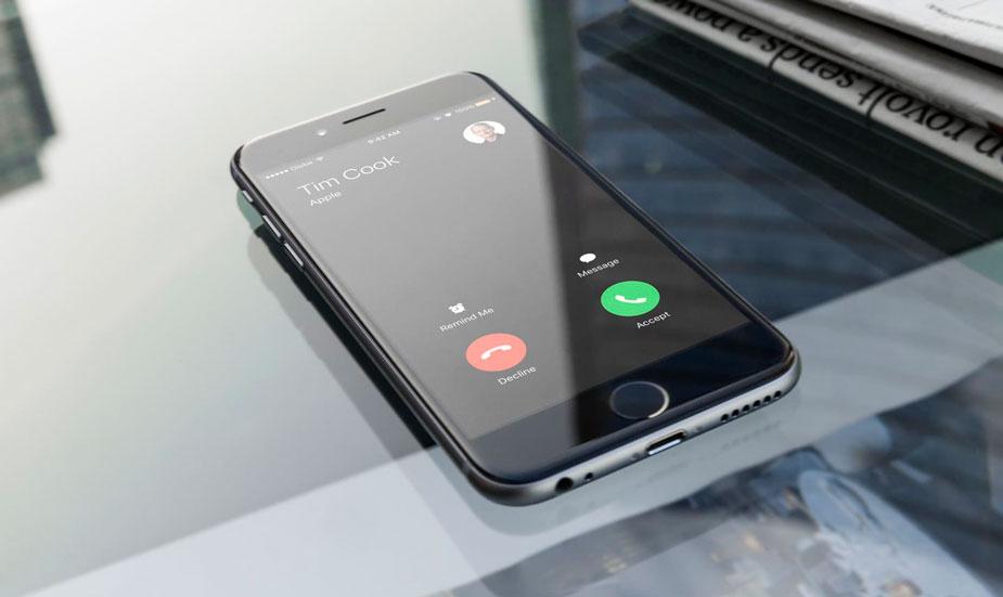 Cómo rechazar llamadas con el iPhone bloqueado