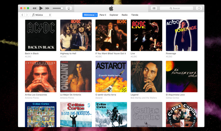 Mover biblioteca iTunes