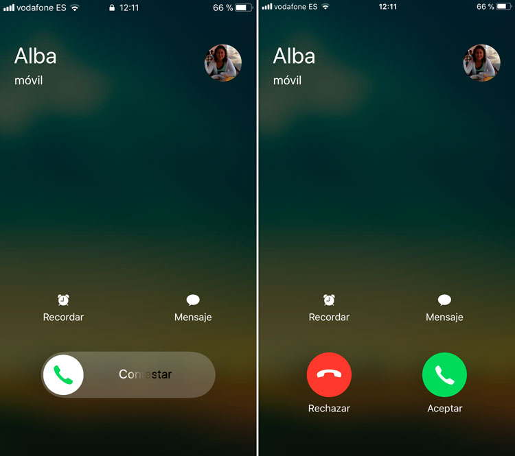 Rechazar llamadas en iPhone