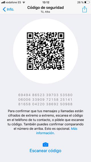 Código de cifrado de WhatsApp