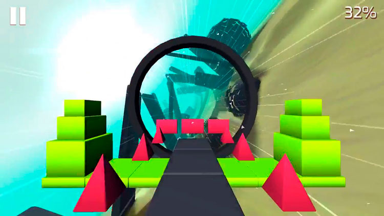 Glitch Dash, juego de plataformas 3D