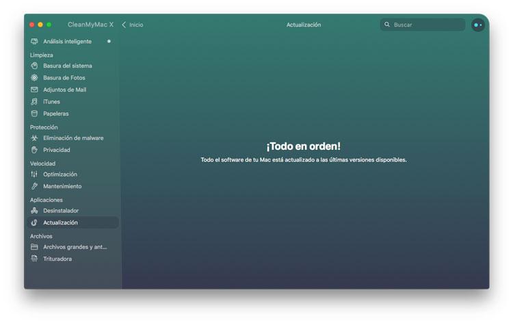 Módulo de actualizaciones de CleanMyMac X