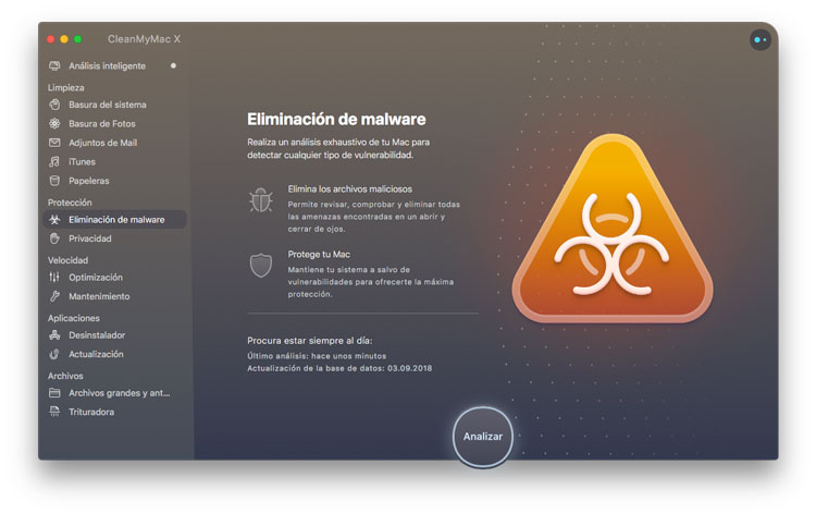 Módulo para eliminar malware con CleanMyMac X