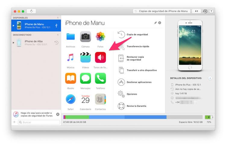 Seleccionar iPhone - Tonos de llamada