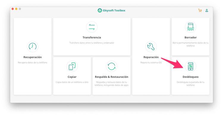 iSkysoft Toolbox Desbloqueo