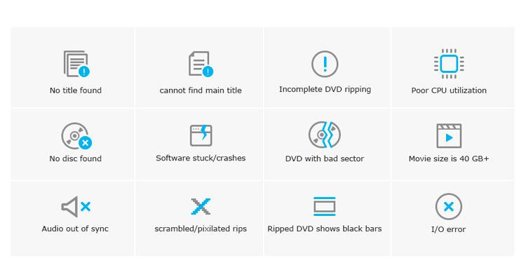 Errores habituales al rippear DVDs