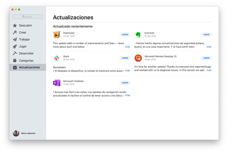Actualiza apps
