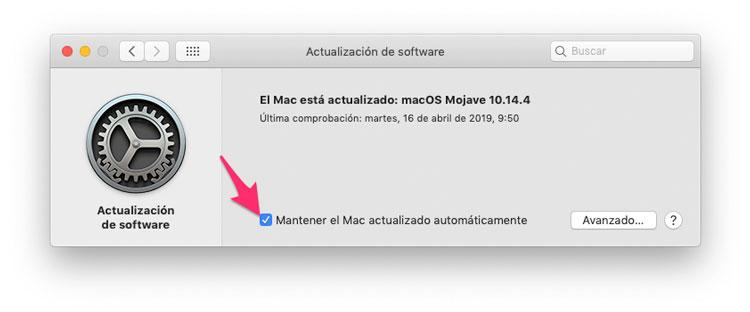 Mantener el Mac actualizado automáticamente