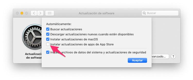 No actualizar apps