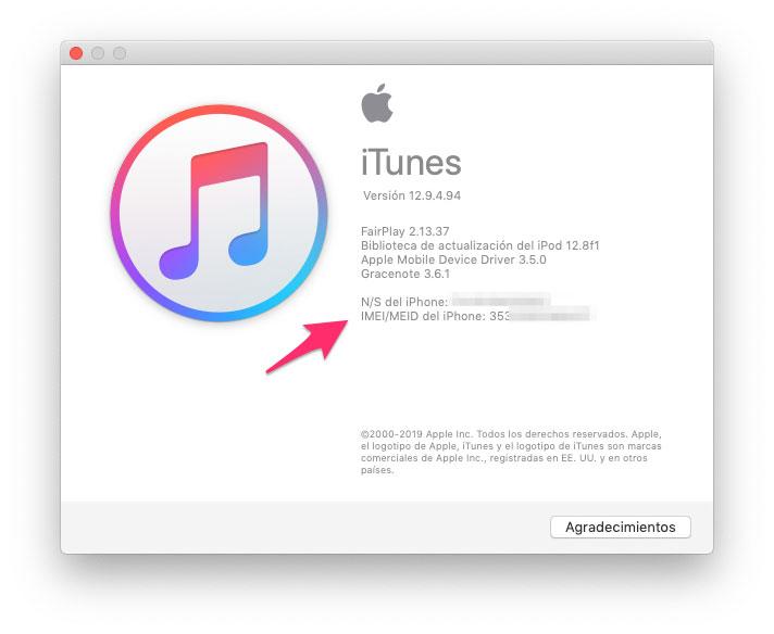 Ver IMEI desde iTunes