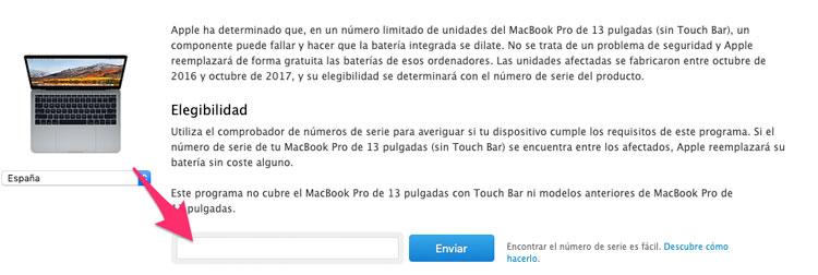 Comprobar si el MacBook Pro es apto