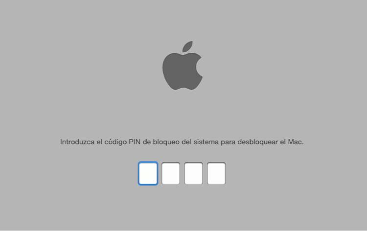 Pantalla PIN de bloqueo de iCloud