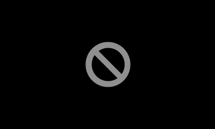 Pantalla de símbolo de prohibido