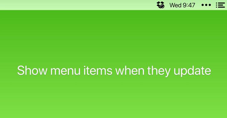 Mostrar iconos durante actualizaciones