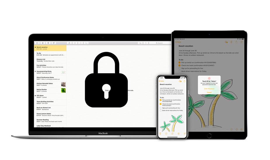 Proteger notas con contraseña en iPhone y iPad