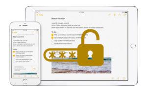 Recuperar la contraseña de las notas protegidas en iPhone y iPad