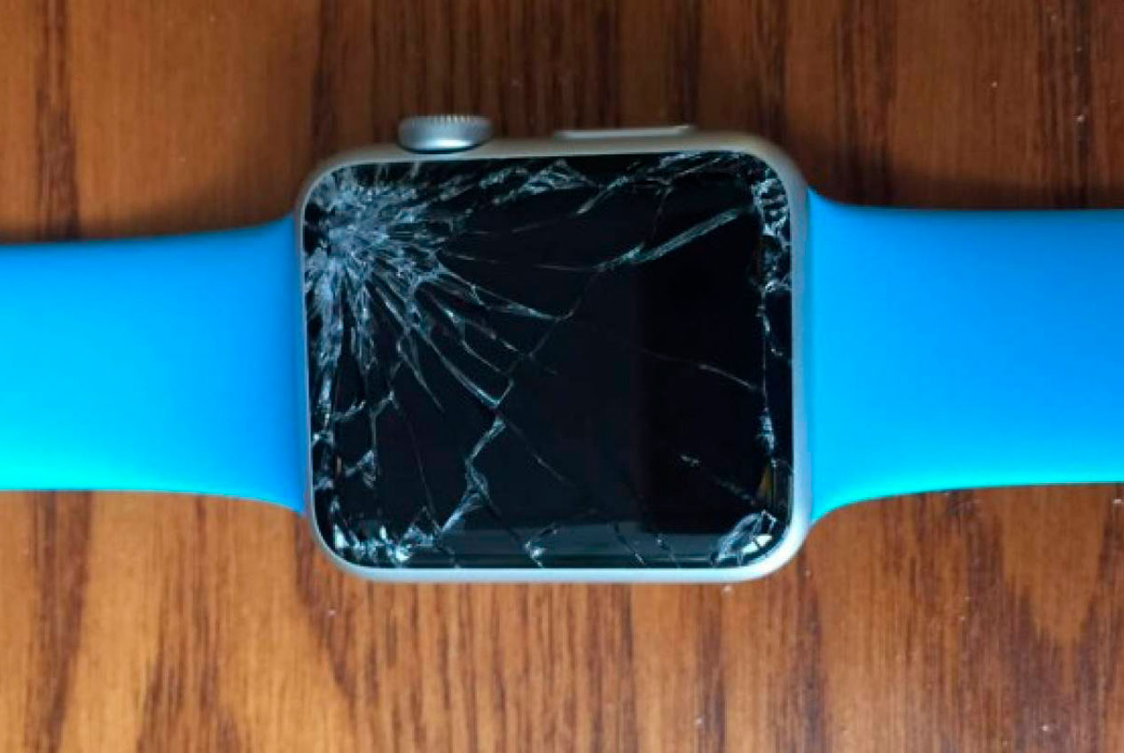 Apple Watch con la pantalla rota